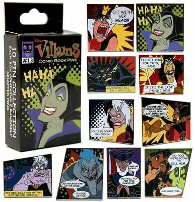 Disney Parks Comic Book Villains 2 Pc Pin Mystery Character Box Sealed - NEW
