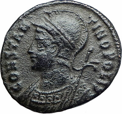 CONSTANTINE I the GREAT Founds Constantinople Original Ancient Roman Coin i80185