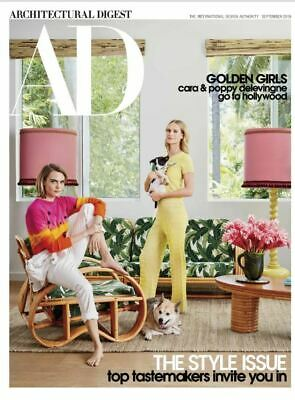 Architectural Digest September 2019 Issue The Style Issue Poppy Cara Delevingne