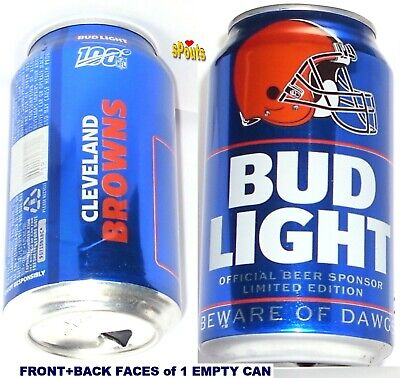 2019 Cleveland Browns Nfl Kickoff Bud Light Beer Can Oh Team Sports Fan Football