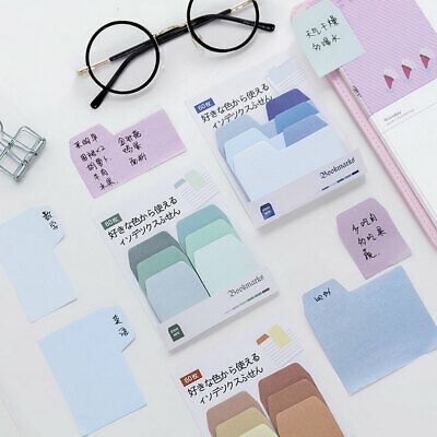 School Supplies Sticky Note Memo Watercolor Gradient Japanese Paper Stationery