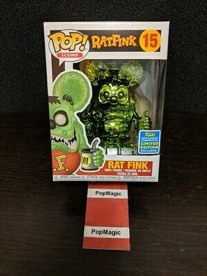 🐀in Hand🐀funko Pop!🐀rat Fink Green Chrome #15🐀sdcc 2019🐀free Protector🐀