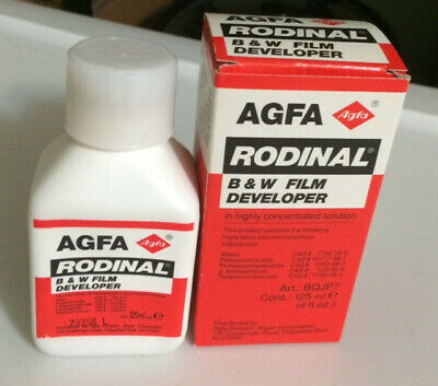 AGFA RODINAL B & W FILM DEVELOPER NEW OLD STOCK 125ml 4 fl.oz