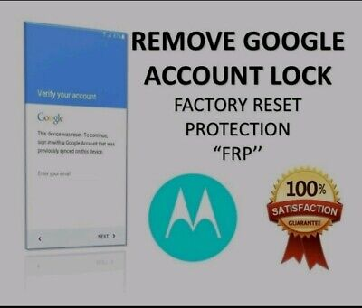 Remote Google Account Bypass Removal, Reset Unlock FRP for MOTOROLA