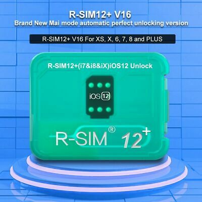 R-SIM12+V16 Nano Unlock Card RSIM for iPhone XS MAX/XR/XS/8/7/6 4G iOS 12 11