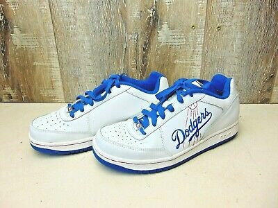 Men's Reebok Stitched Los Angeles Dodgers Athletic Shoes Size 6 White & Blue