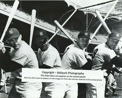 Bob Cerv - Hector Lopez - Mickey Mantle - Roger Maris 1961 Yankees 8x10 Photo