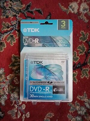TDK mini DVD-R 3 Pack