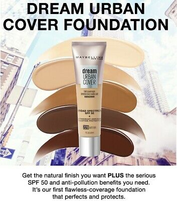 MAYBELLINE Dream Urban Cover Full Coverage Foundation SPF50 CHOOSE YOUR COLOUR