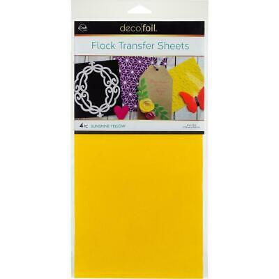"Thermoweb iCraft Deco Foil Flock Transfer Sheet Sunshine Yellow  6x12"", 4pk"