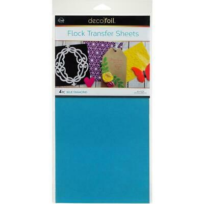 "Thermoweb iCraft Deco Foil Flock Transfer Sheet Blue Diamond  6x12"", 4pk"