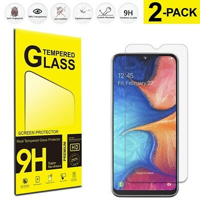 For Samsung Galaxy M10 M20 M30 M40 Tempered Glass Screen Protector Film 2-Pack
