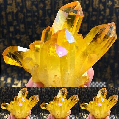 1PC Natural Yellow Crystal Quartz Citrine Cluster Mineral Specimen Healing Lot