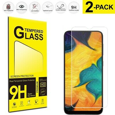 For Samsung Galaxy A10 Tempered Glass Screen Protector Film 2-Pack Cover