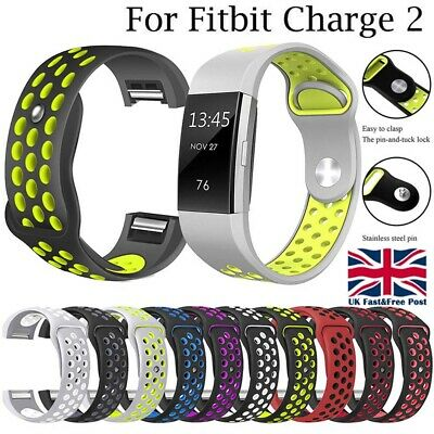 For Fitbit Charge 2 Soft Silicone Replacement Spare Sport Band Bracelet Strap UK
