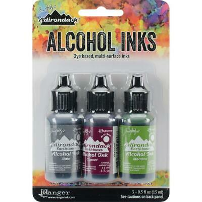 Tim Holtz Alcohol Ink Kit Cottage Path  Slate, Currant & Meadow
