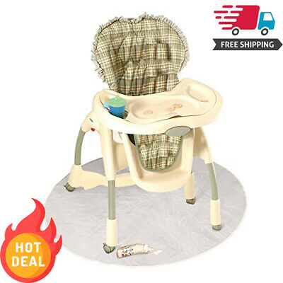 Baby High Chair Floor 50 Inch Infant Toddler Feeding Clear Play Mat Protector