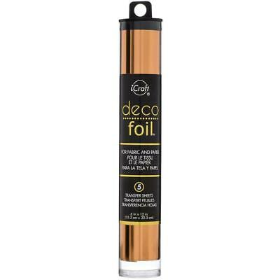 "Thermoweb iCraft Deco Foil Transfer Sheet Copper  6x12"", 5pk"