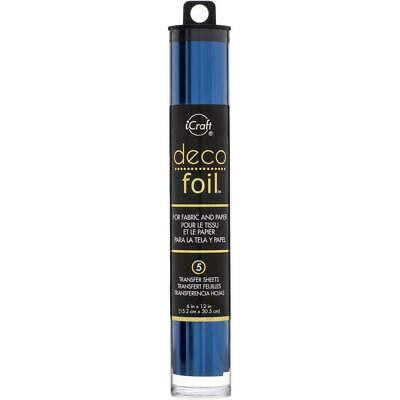 "Thermoweb iCraft Deco Foil Transfer Sheet Deep Blue  6x12"", 5pk"