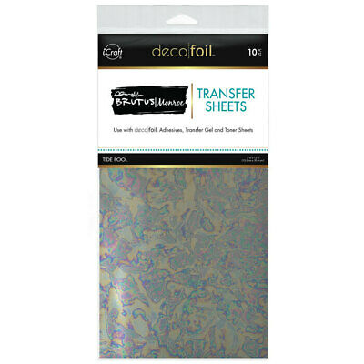 "Thermoweb iCraft Deco Foil Transfer Sheet Tide Pool  6x12"", 10pk by Brutus Monro"