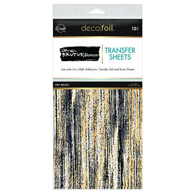 "Thermoweb iCraft Deco Foil Transfer Sheet Dry Brush  6x12"", 10pk by Brutus Monro"