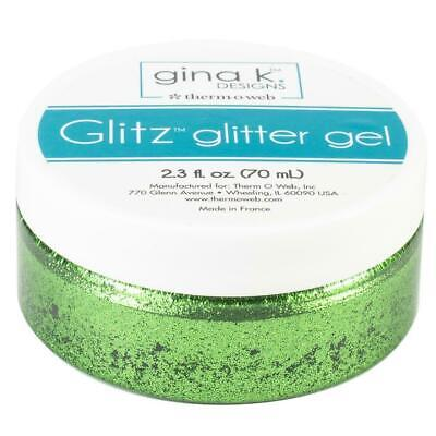 Thermoweb Glitz Glitter Gel Grass Green  2.3oz by Gina K Designs