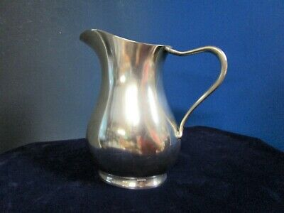 US NAVY 1 Pint Pitcher Reed & Barton Silverplate Engraved USN on Bottom 1942/3