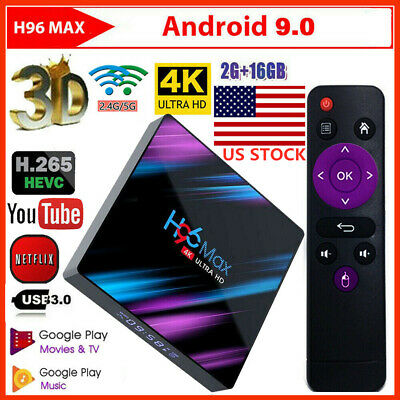 H96 Max 3318 Smart TV Box 2G+16G Android9.0 WiFi Quad-Core 1080P 4K Media Player