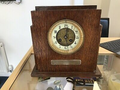 Art Deco Chiming Mantle Clock C 1903 As Per Silver Plaque In Full Working Order.