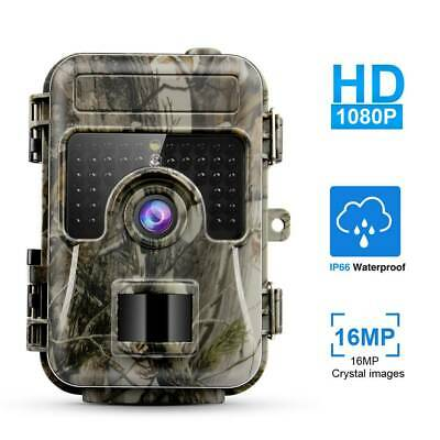 Trail Game Camera 16MP 1080P Waterproof Hunting Scouting Cam Wildlife Monitor