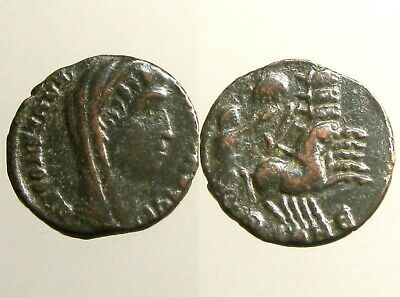 CONSTANTINE I THE GREAT AE4______Milvian Bridge Issue_____QUADRIGA / HAND OF GOD