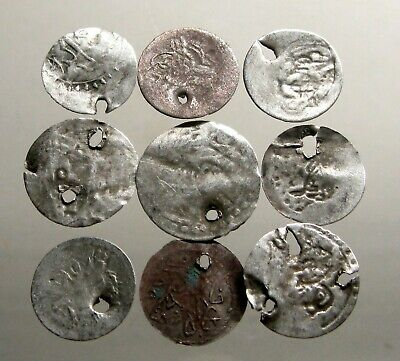 LOT OF 9 SILVER COINS OF THE OTTOMAN EMPIRE______From the 17th to 19th Centuries