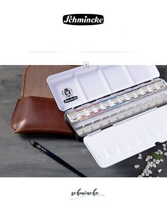 SCHMINCKE Horadam Watercolor Ltd Edition 12 Half Pans Gift Set with leather bag