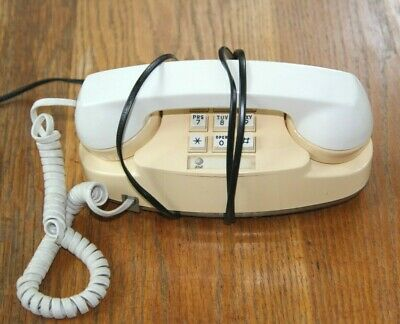 Working AT&T Western Electric Princess Touch Tone Telephone Phone  Beige / White