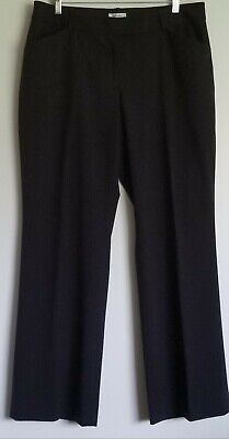 Tahari ASL Womens Plus Black Straight-Leg Dress Pants Work Trousers Size 14
