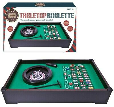 Indoor Tabletop Table Casino Roulette Wheel Set Game - Xmas Bday Gift Family Fun