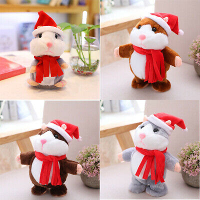 Hamster Cheeky Plush Pet Cute You Repeats Gift What Electronic Say Talking Toy