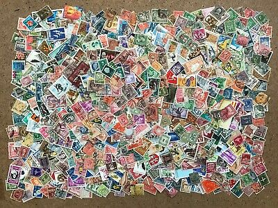 World Stamps - OFF Paper - 1000+ Stamps from kiloware early to modern