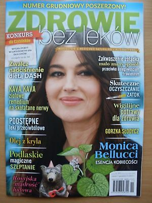 MONICA BELLUCCI on front cover Polish Magazine ZDROWIE BEZ LEKOW 7/2017