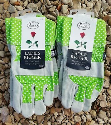 Briers Ladies Suede Spot Rigger Garden Gloves Small/Medium .Job Lot X 6 Pairs