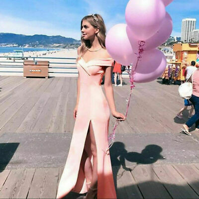 Women Formal Wedding Bridesmaid Long Evening Party Gown Cocktail Sexy Dress