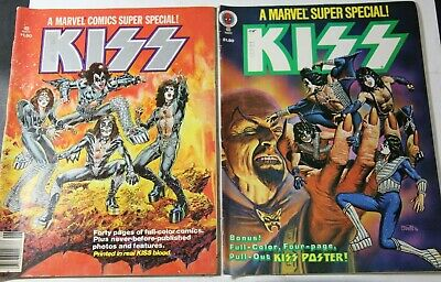 Marvel Comics Super Special #1 & #2 Kiss 1977 - Printed With Real Kiss Blood Htf