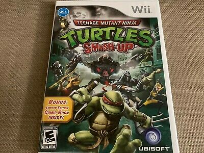 Wii Teenage Mutant Ninja Turtles Smash-up Tested Quick Shipping TMNT Nintendo