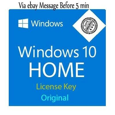 Windows 10 Home Key 32/64 Bit Genuine Win10 home Licence Product ORIGINAL CODE