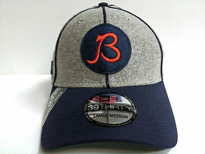 Chicago Bears Cap New Era 39Thirty Stretch 2019 Gray Home Sideline 1920s Hat