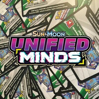 50x Sun And Moon Unified Minds Pokemon TCGO PTCGO TCG Online Codes Sent Fast