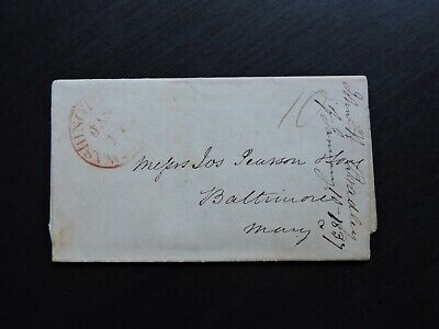 1837 Washington Dc Stampless Letter Bradley !! Abe Lincoln Assassination Lawyer