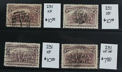 CKStamps: US Stamps Collection Scott#231 2c Columbian Used Large Margins