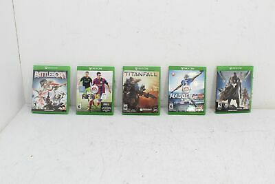 XBOX ONE 5 Game Lot Titanfall Battleborn Destiny FIFA 15 Madden NFL 16