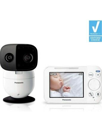 2019 PANASONIC Video Baby Monitor with Extra Long Audio/Video Range, 2 Way Talk